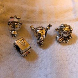 europeon s925 ale Jewelry - Set 4 s925 ale charms